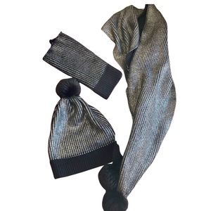 SEED HERITAGE 3 piece set, beanie, scarf and shrug